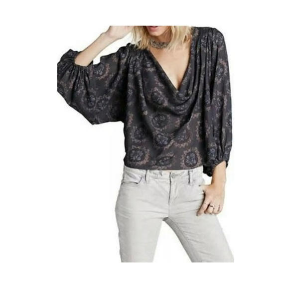 Free People Tops - Free People Cowl Neck Draped Blouse